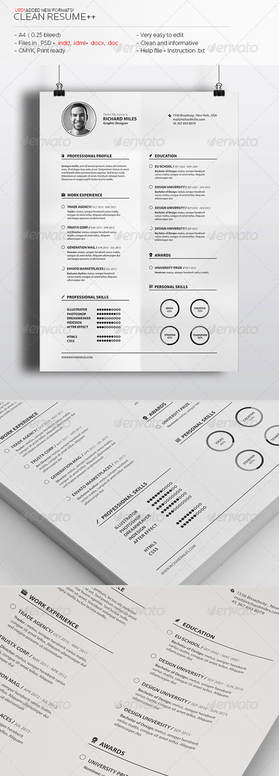 simple professional resume templates to get a dream job. Black Bedroom Furniture Sets. Home Design Ideas