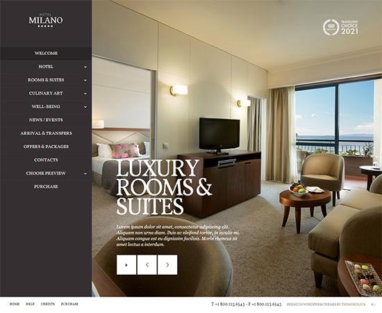 20 Best Hotel Website Templates