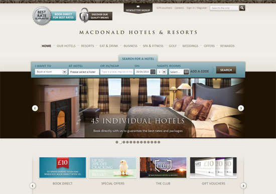 Best Hotel Websites