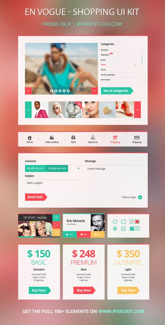 Free PSD eCommerce UI Kit