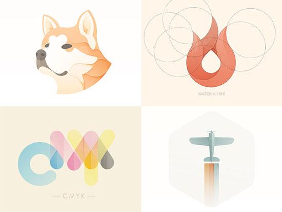 Soft Color Logo Designs