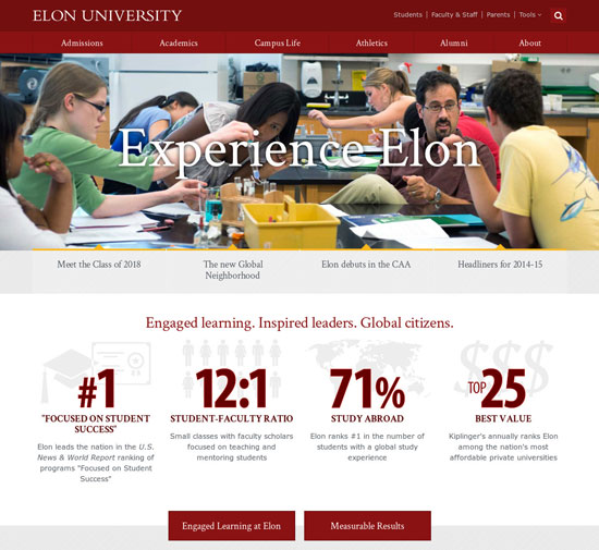 best college website design