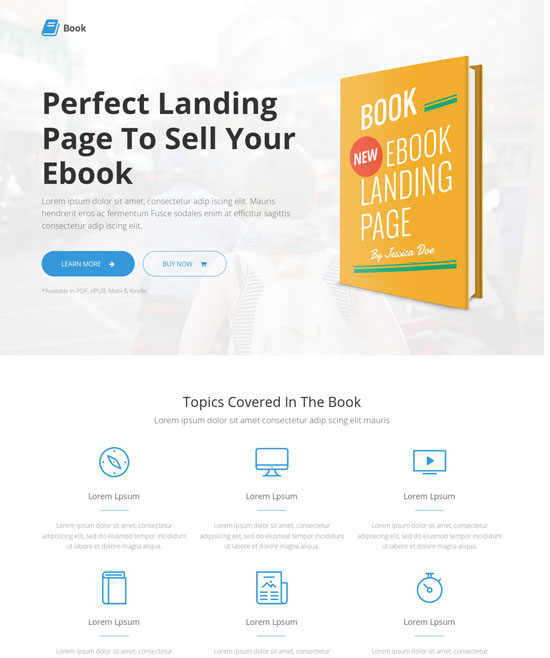 13 modern responsive website templates for selling books