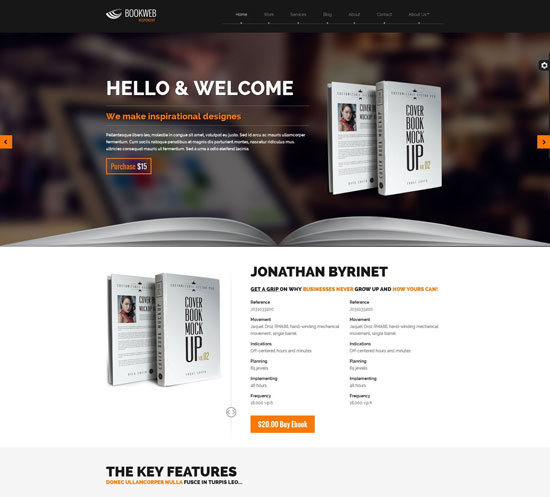 13 modern responsive website templates for selling books. Black Bedroom Furniture Sets. Home Design Ideas