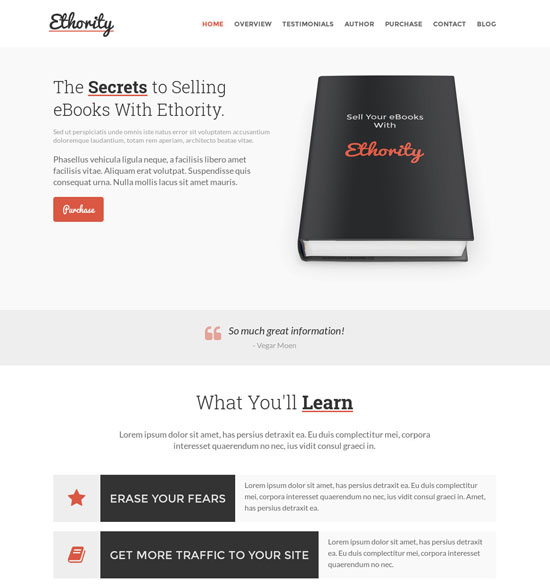 Best Web Templates for Selling Books