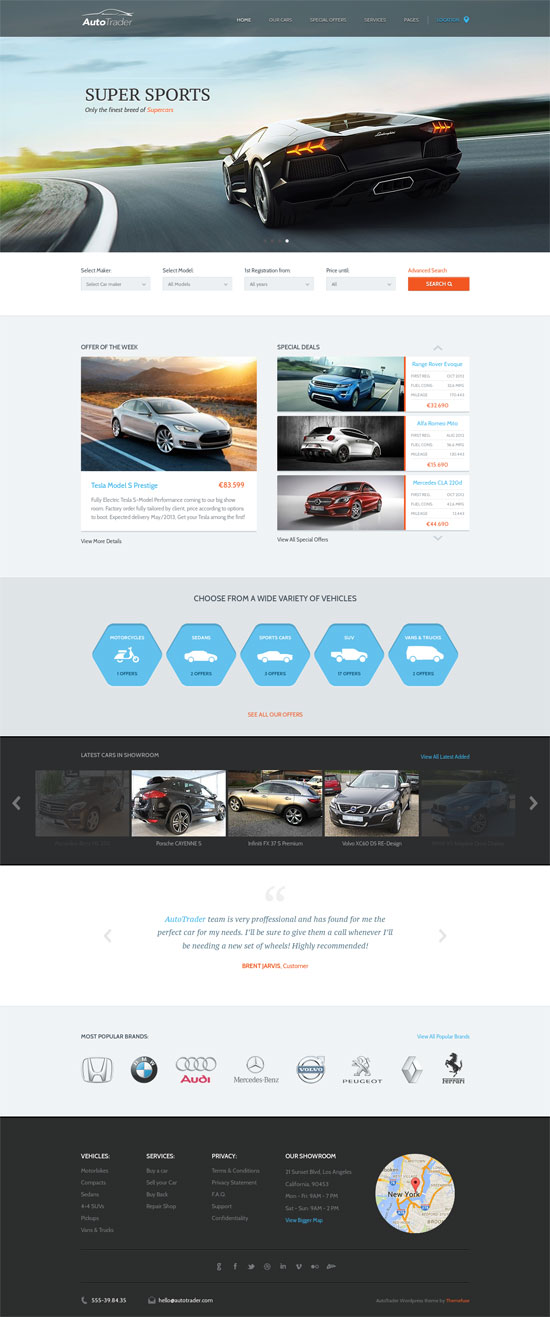 9 Killer Automotive WordPress Themes to Help you Sell Any Vehicles ...