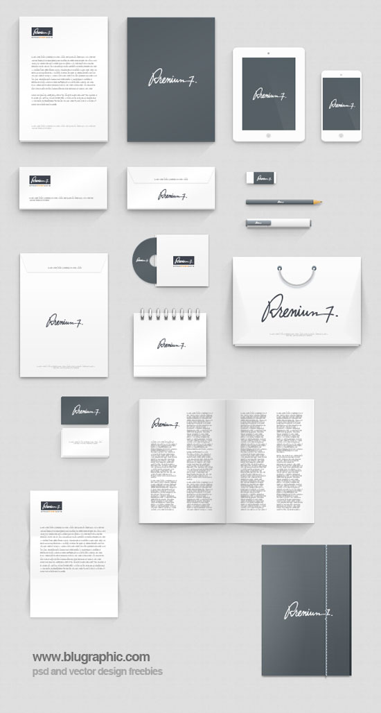 55 free branding/identity & stationery mockups, Powerpoint templates