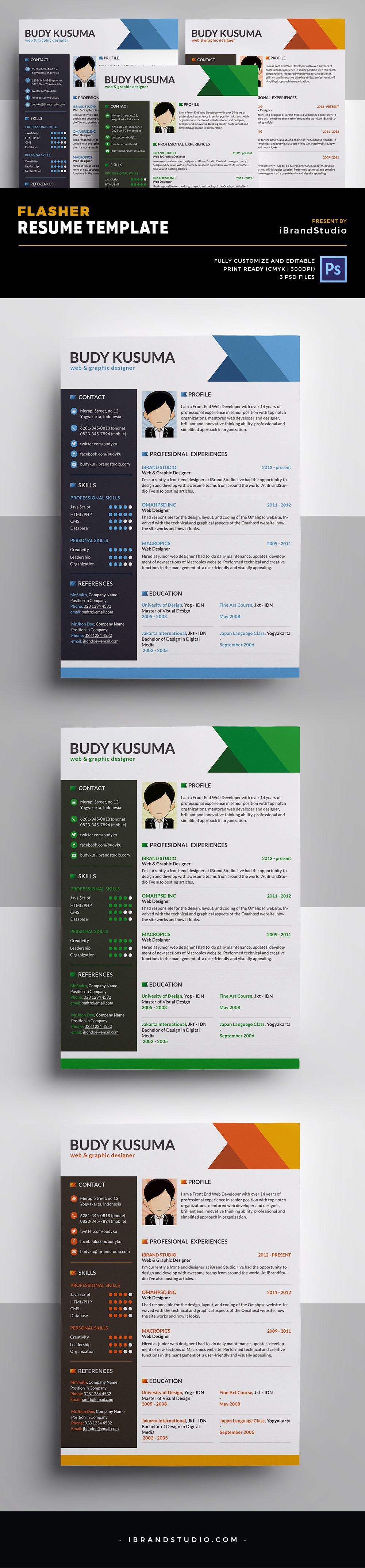 Free Flasher Resume Template
