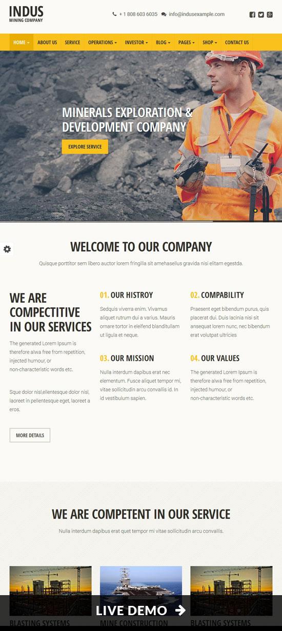 Connstruction Website Templates