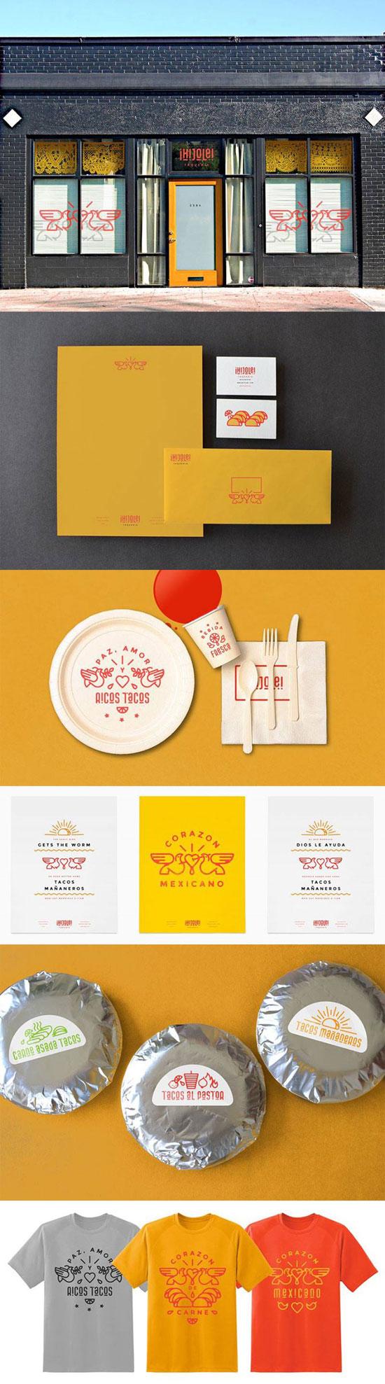 Ejemplos Brillantes de diseño de Imagen Corporativa para Restaurantes