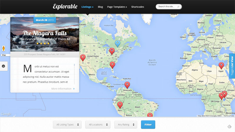 Travel Blog WordPress Templalate