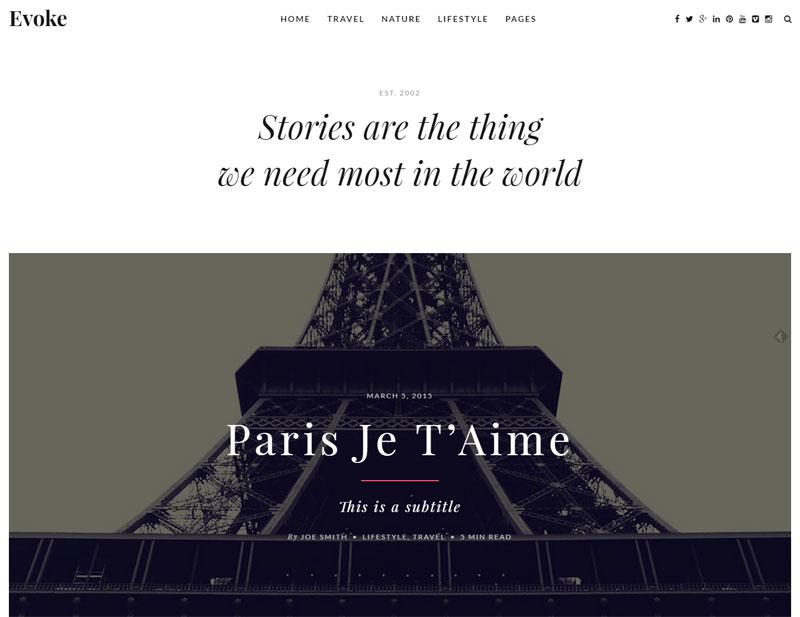 Travel Blog WordPress Templalate