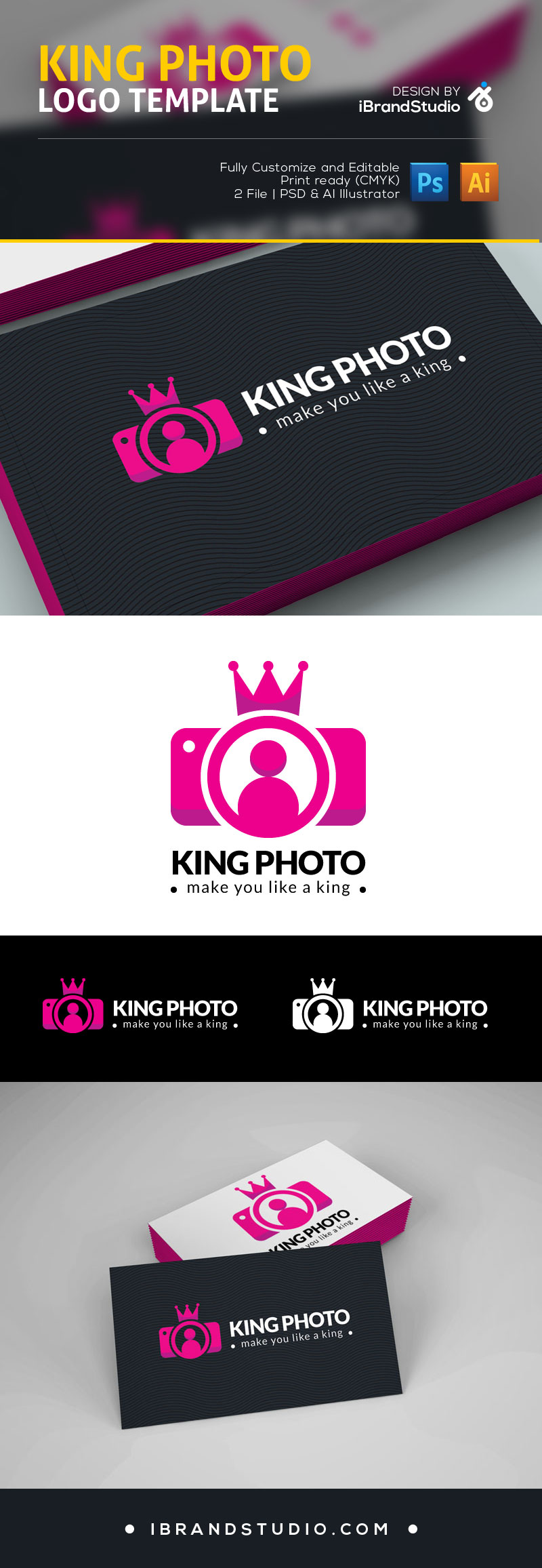 Free logo template king photo ai psd free logo template accmission Choice Image