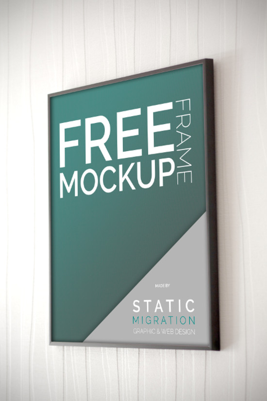 Bathroom Sign Mockup 70 hand-picked free poster mockups for you