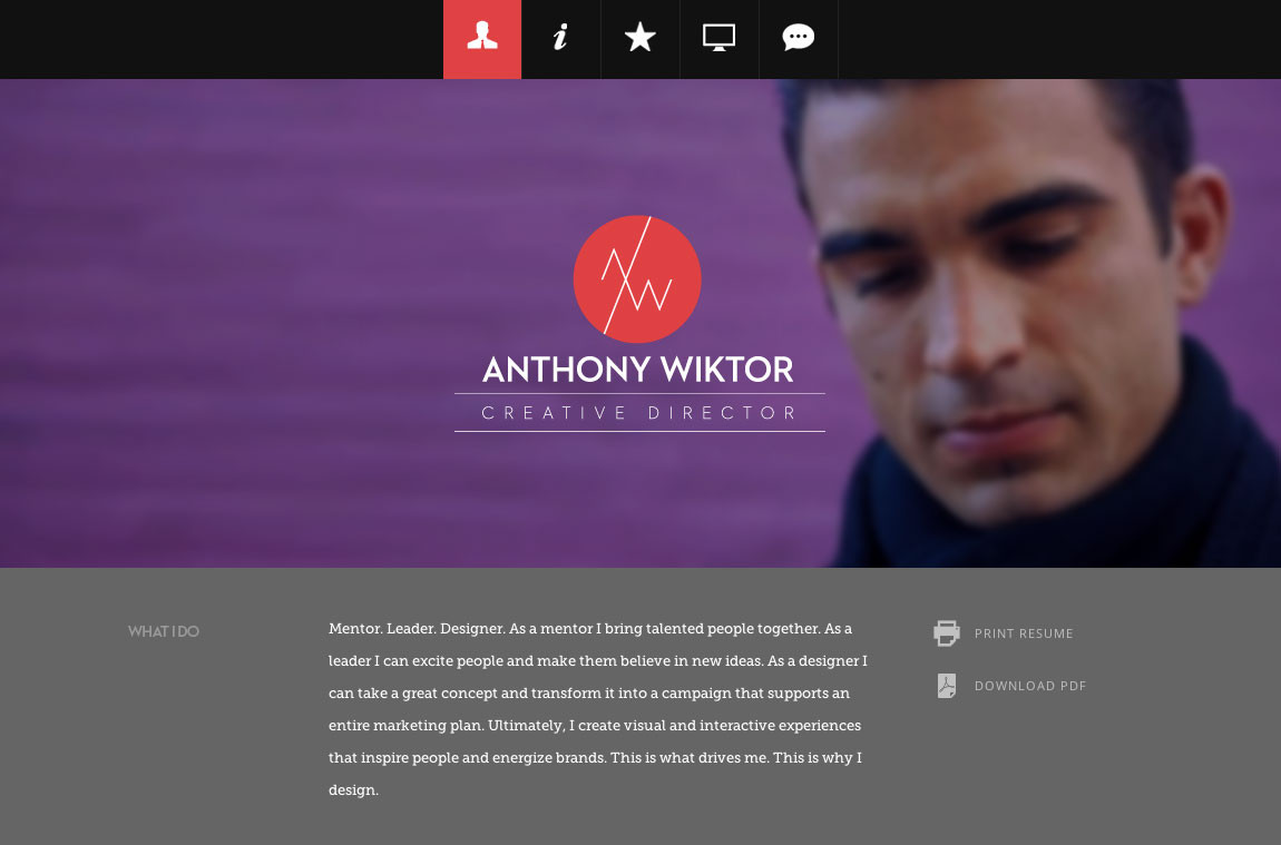 Resume Website Custom 48 Creative Resume Websites For Your Inspiration