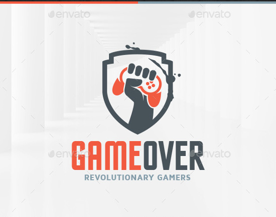 Game Over Logo Template by LiveAtTheBBQ