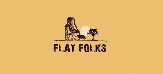 Flat Folks Logo Design by 48hourslogo