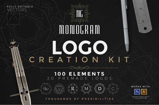 Logo Creation Kit - Monogram Edition by Zeppelin Graphics