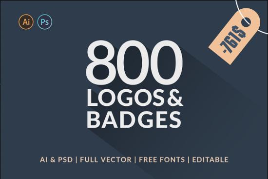 800 Logos & Badges SALE by Piotr Łapa Atelier