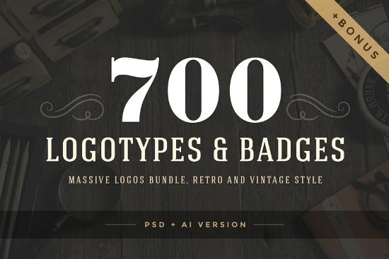 700 logos and badges bundle by Vasya Kobelev