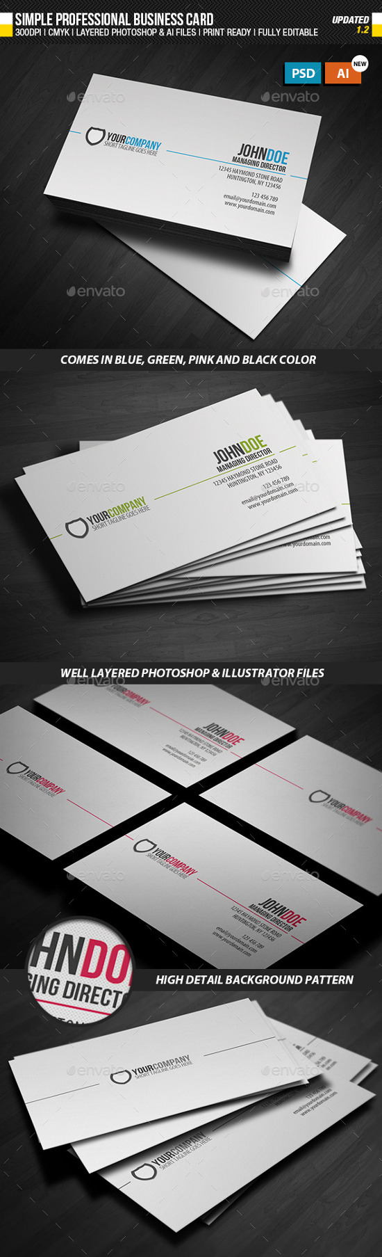 Best Business Card Templates For Corporate - Professional business cards templates