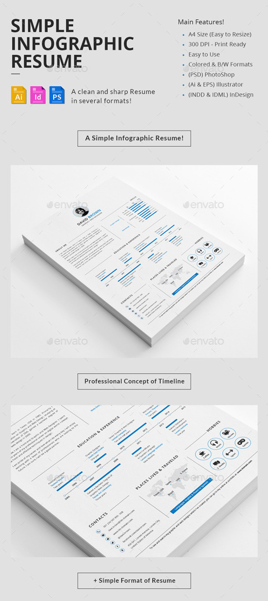 infographic resume template free - best infographic resume templates for you