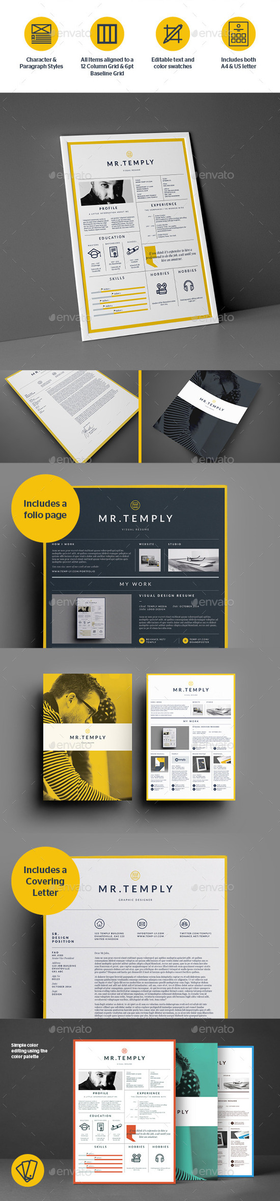 Visual Resume By Temp Ly. Infographic Resume Templates