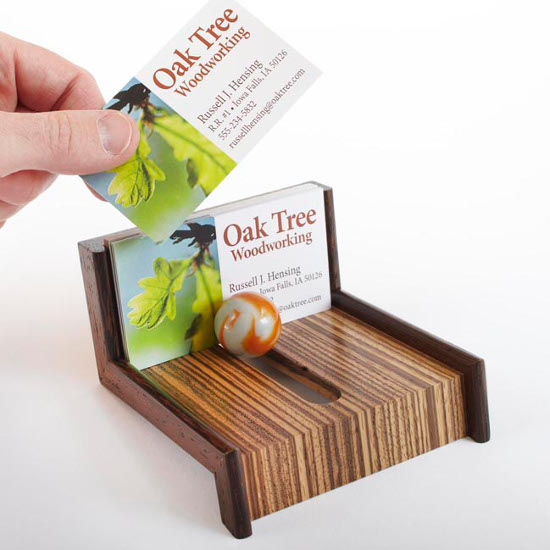 Cool-as-Marble Business Card Holder
