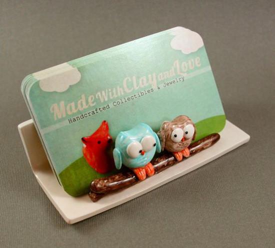 Hand Sculpted Business Card Holder