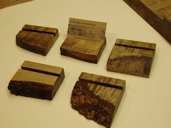 Beautiful Wood Business Card Holder