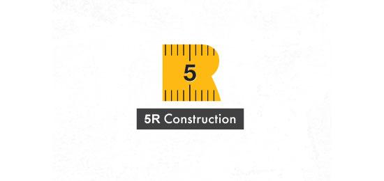 hemos recopilado los mejores y más creativos ejemplos de logotipos para empresas de construcción.  - Construcción 5R por Mike Bruner