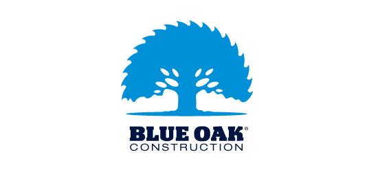 hemos recopilado los mejores y más creativos ejemplos de logotipos para empresas de construcción.  - Roble azul de Mike Bruner