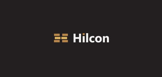 hemos recopilado los mejores y más creativos ejemplos de logotipos para empresas de construcción.  - Hilcon de DavidAirey