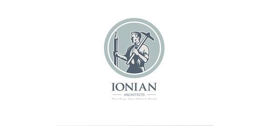Dibujante arquitecto jónico de patrimonio