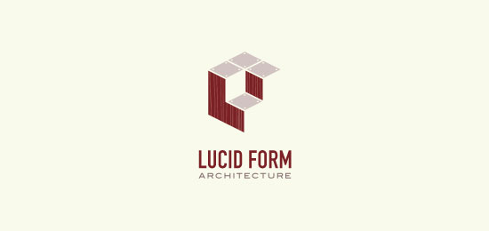hemos recopilado los mejores y más creativos ejemplos de logotipos para empresas de construcción.  -Arquitectura de formas lúcidas de atomicvibe