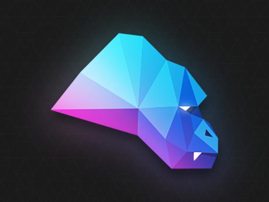 Polygon Gorilla by Chris Lüders