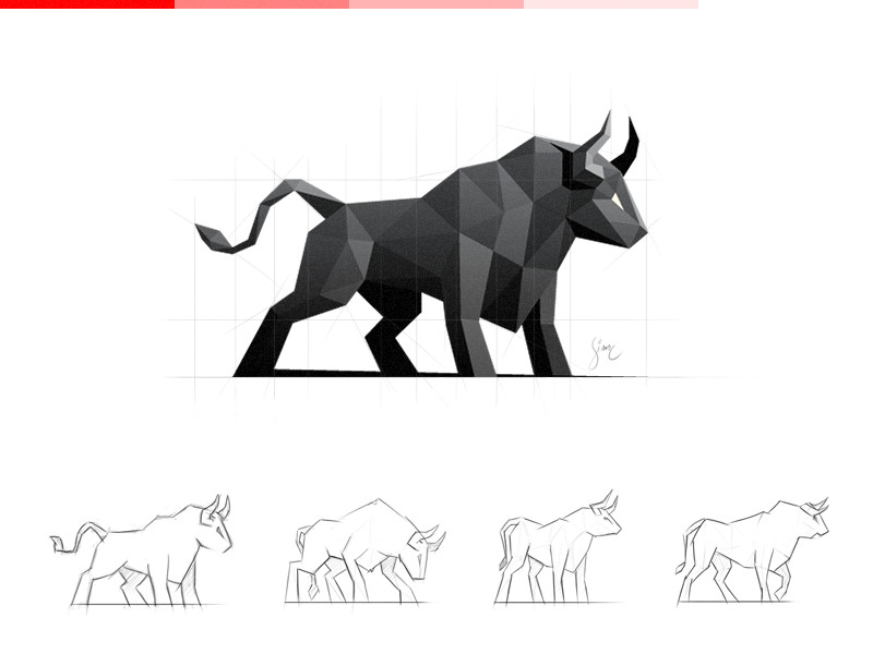 Low Polygon Logo Designs: 45 Amazing Animal Logos
