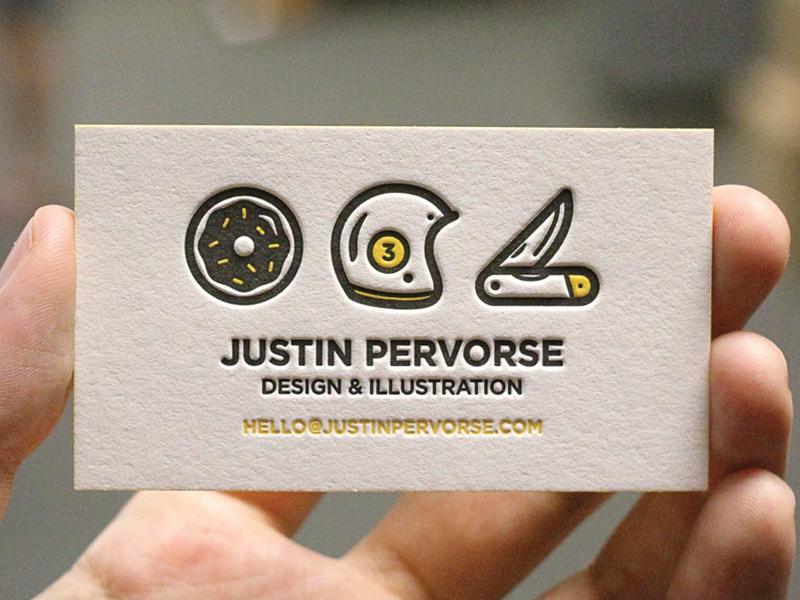 Justin Pervorse's Business Card