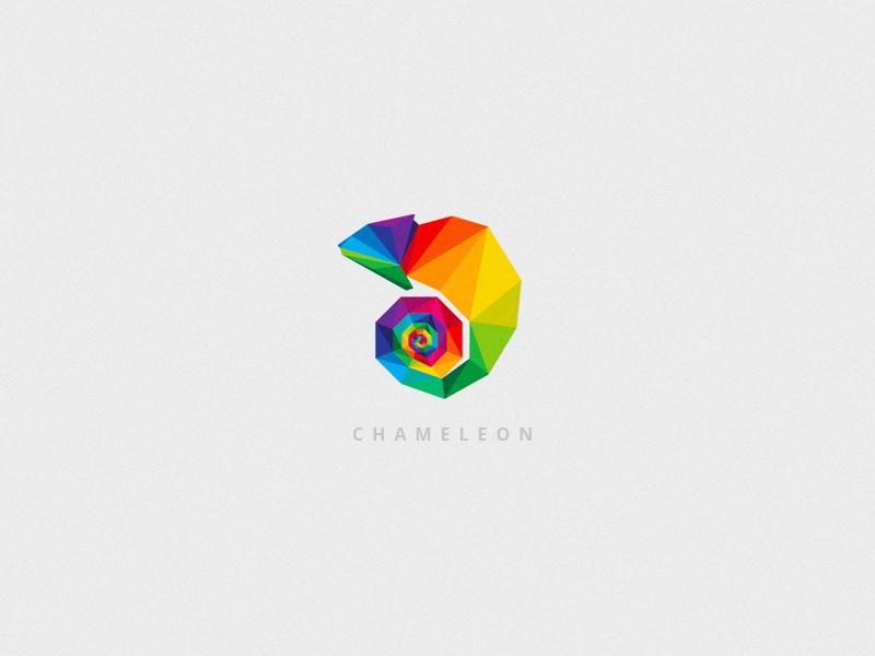 Chameleon Logo by Diana Hlevnjak