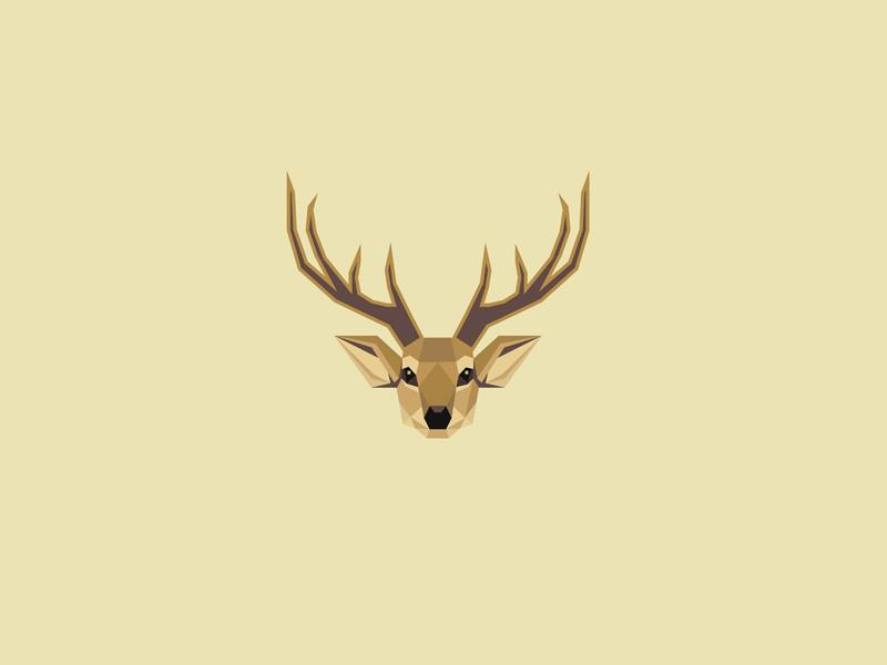 Geometric Deer Logo by Diana Hlevnjak
