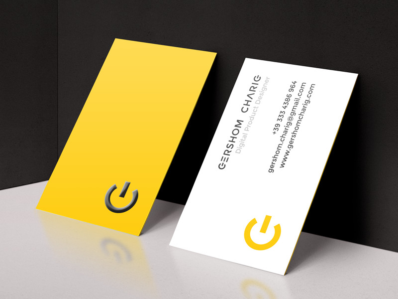 Gershom Charig's Business Card