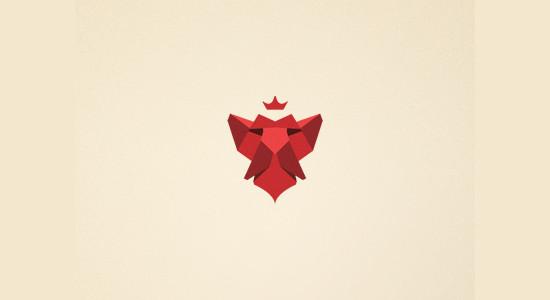 lion's head - logo by Rafal Bromirski