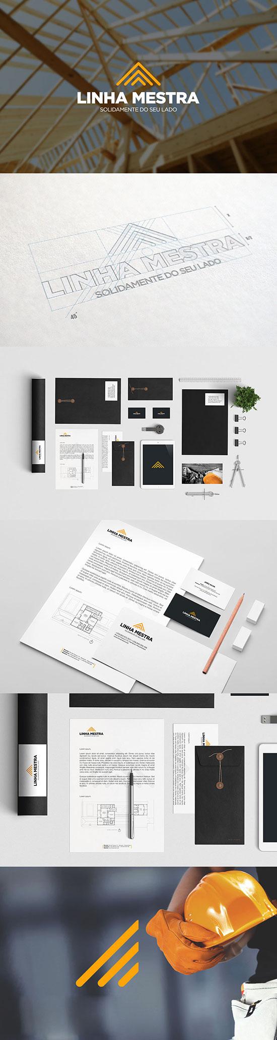 Diseños de identidad de empresa constructora
