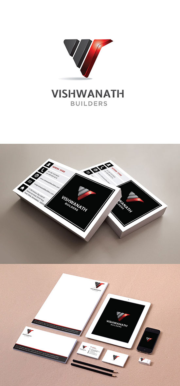 Identidad de Marca para empresas constructoras - Vishwanath Builder de Fatfox Studio