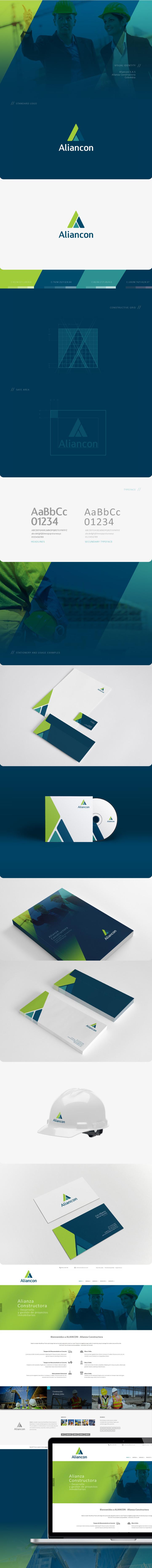 Identidad de Marca para empresas constructoras - Aliancon SAS por Oven Design
