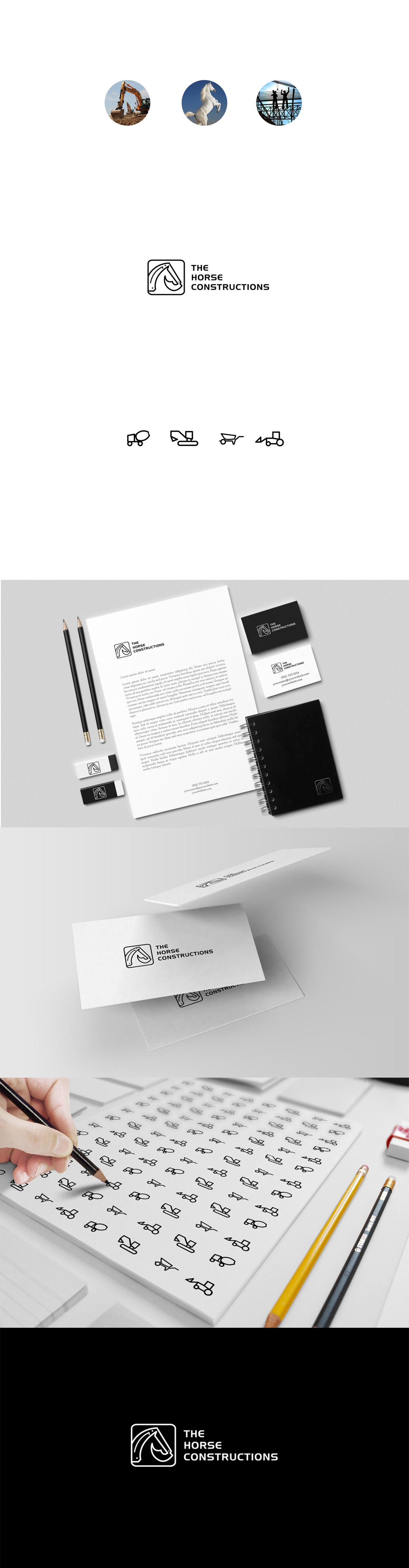 Identidad de Marca para empresas constructoras - The Horse Constructions por Bransense Branding