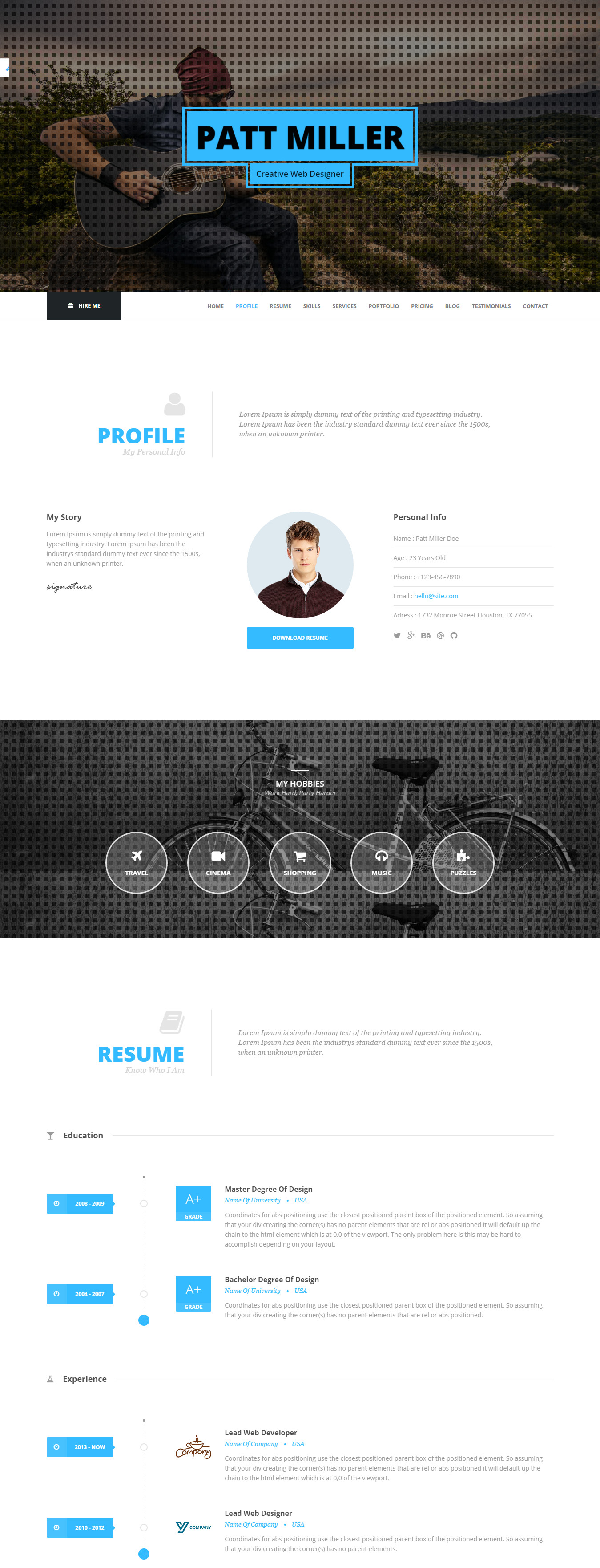 top resume website templates in wordpress icon search