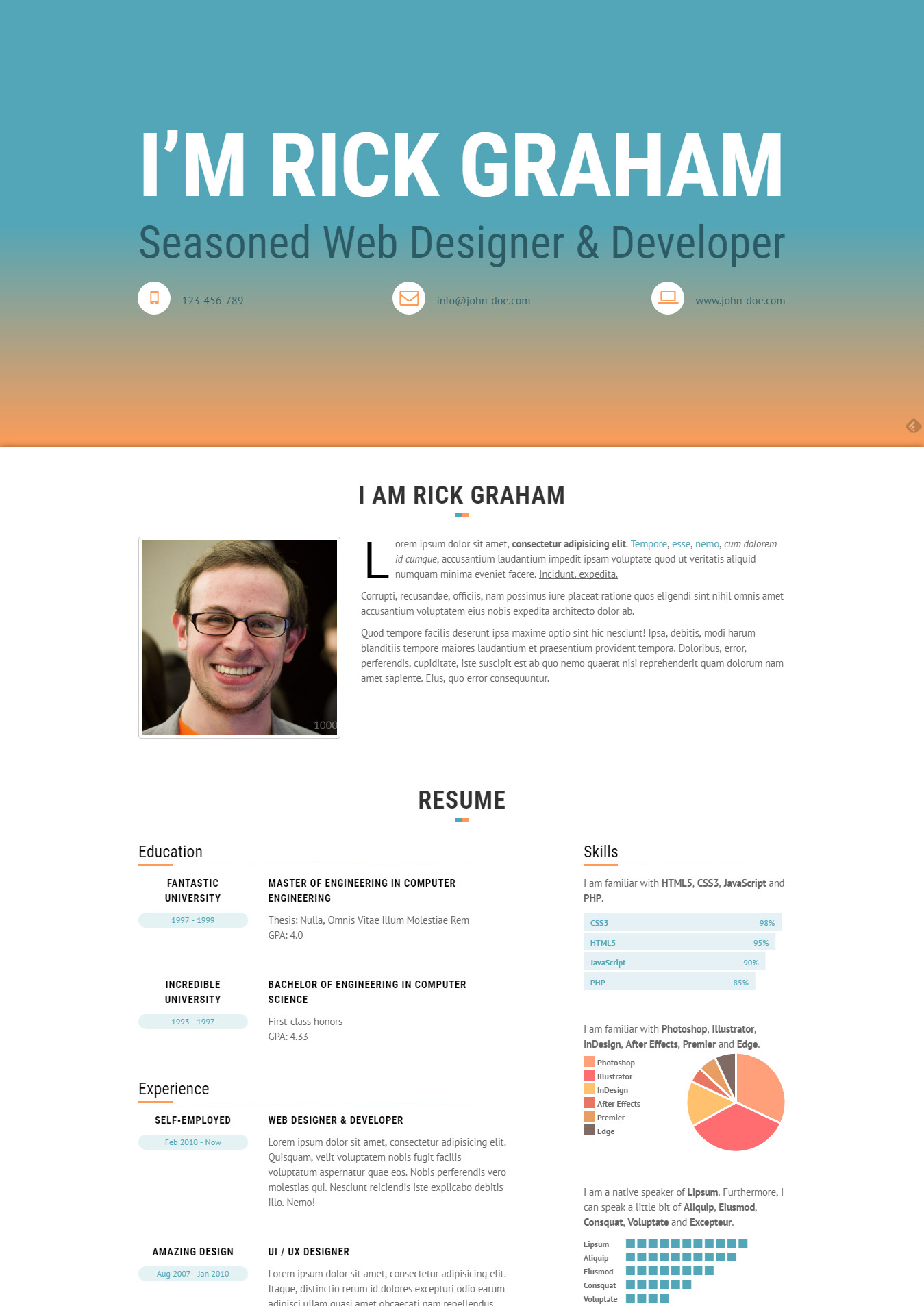 Resume Website Simple Top 48 Resume Website Templates In WordPress