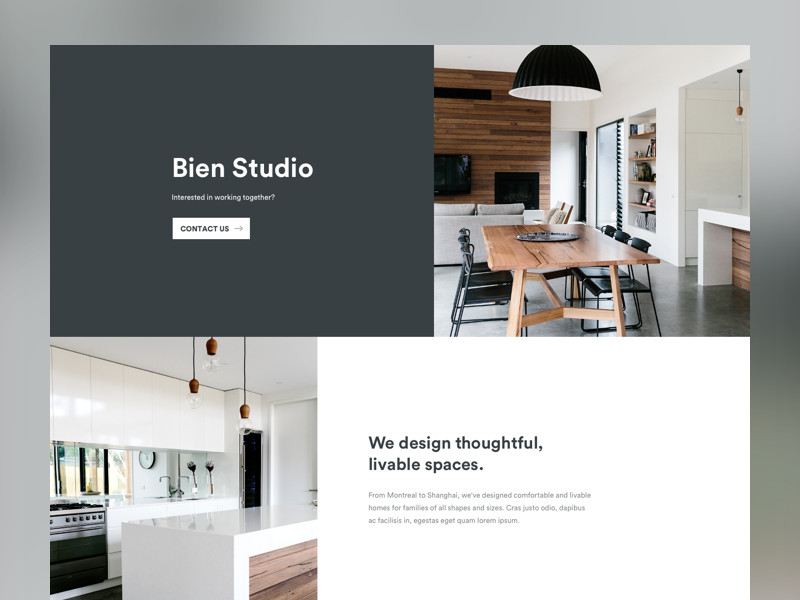 Tips on building your interior design portfolio sites for Interior design website portfolio
