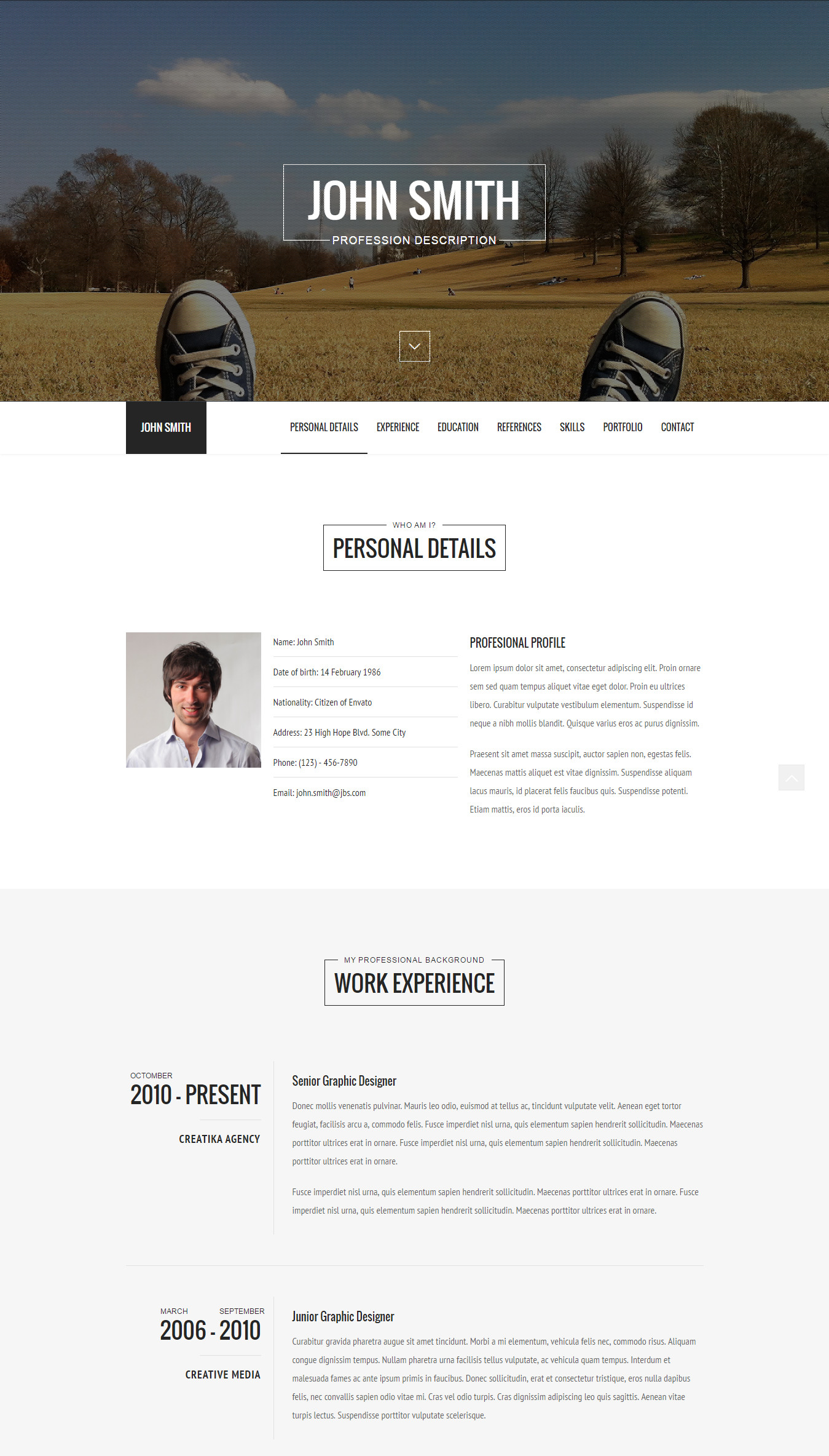 Top 15 Resume Website Templates (in WordPress)